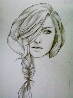 Find images and videos about art, drawing and illustration on We Heart It - the app to get lost in what you love. Drawing Hair, Painting & Drawing, Braid Drawing, Drawing Eyes, Cool Drawings, Drawing Sketches, Sketching, Beautiful Drawings, Drawing Style