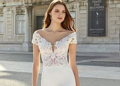 Style 11151: Classic A-Line Gown with Sabrina Neckline and Low Back | Adore by Justin Alexander Satin Tulle, Tulle Ball Gown, Ball Gowns, Plunging Neckline Style, Anne Barge Wedding Dresses, Sabrina Neckline, Chic And Curvy, A Line Gown, Long Sleeve Wedding