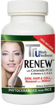 Amazon.com: Phytoceramides, By Tru Renew, Made from Rice and Gluten FREE. Clinical trials show superior to Wheat. Moisturize the Skin Natura...