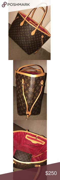 Large Neverfull Large LV brown neverfull, MOST high quality bag I've had so far, thick leather textured bag, thick durable handles and also comes with large wallet. Louis Vuitton Bags Totes
