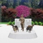 USA's First Monument to Honor Working Dogs  In 2013, the United States will be erecting the first ever monument honoring Military Working Dogs. Congress has never before elevated an animal to national monument status; a fact that reminds us just how truly deserving these dogs are. The monument, which will be made possible through private funding, will feature four current day combat dogs with a human handler, & will reside at the 341st Training Squadron at Lackland AFB in San Antonio, TX