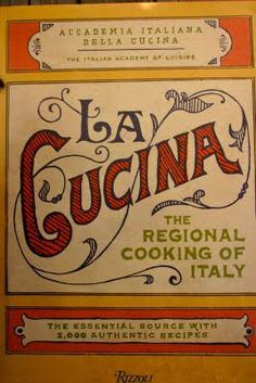 It is actually the cover of a cook book but it is as pretty as a sign. Authentic Italian cooking is delicious.