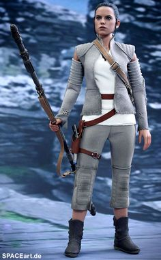 Star Wars: Rey im Resistance Outfit, PVC Figur ... https://spaceart.de/produkte/sw133.php