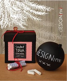 Christmas ornament by designinvi Christmas Balls, Christmas Gifts, Christmas Chalkboard, Xmas Ornaments, Seasons, Halloween, Inspiration, Festive, Packaging