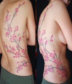 beautiful tattoo of cherry blossom #tattoo #cherryblossom