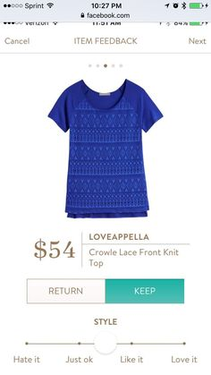Cobalt blue, love this color for tops!