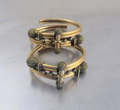 Antique Victorian Wedding Bracelets Pair Two by TonettesTreasures