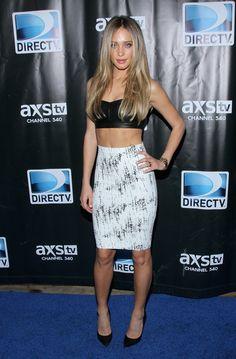 Hannah Davis attends the DirecTV Super Saturday Night. http://aol.it/1u8r7dQ