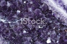 Amethyst rock close Royalty Free Stock Photo