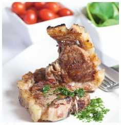 Here is a fantastic recipe for Barbecued lamb chops with home-made mint sauce Lamb Ribs, Lamb Chops, Barbecued Lamb, Mint Sauce, Baby Potatoes, Barbecue Recipes, Evening Meals, Fresh Mint, Kitchen Recipes