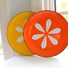 Catherine Holm Enamelware Plates... the colors of Catherine Holm go well with Fiestaware.