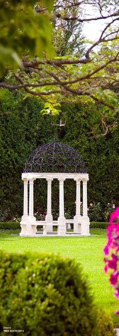 Pergola Dome and Flowers