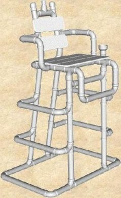 Loft bed made entirely out of pvc pipe easy only tools for Pvc pipe chair plans