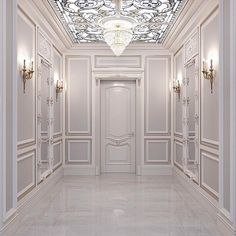 I want this color Corridor Design, Foyer Design, House Design, Interior Design Living Room, Living Room Designs, Living Room Decor, Luxury Homes Interior, Luxury Home Decor, Entrance Hall Decor