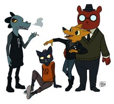 """pulp-punk: """"I'm on my second playthrough of Night in the Woods. It's a great game and you should play it! Awoooooo! """""""