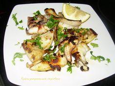 Κρήτη:γαστρονομικός περίπλους: Σουπιές ψητές Cold Dishes, Atkins Diet, Zucchini, Seafood, Chicken, Meat, Vegetables, Cooking, Recipes