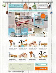 02.16.2013 | Website for Vintage Antique Kitchen by susienka #cute #ecommerce #quaint #POTD99