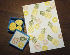 Ananas Rubber Stamp par HarumiCraft sur Etsy