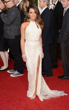 Lea Michele at the 70th Annual Golden Globe Awards looking very stunning