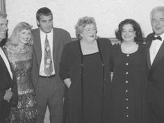 "Nov. 1995: From left: Bob Braun, Nina Clooney, George Clooney, Rosemary Clooney, Ada Zeidler and Nick Clooney, all at the Kidney Foundation of Greater Cincinnati's ""Tribute to the Clooneys."""