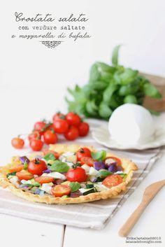 La tana del coniglio: Crostata salata con verdure saltate e mozzarella d...