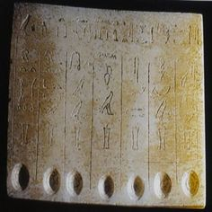 The relief was originally unearthed in 1996 in King Teti's royal tomb at the Saqqara necropolis by an Australian-Egyptian excavation mission. It includes a list of the sacred oils used in ancient Egypt including those used by the under-taker Anomeen.
