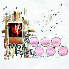 Two & Fourty by Sharmaine www.cocoadaisy.com #scrapbooking #layout #scrapbook #kitclub #cocoadaisy