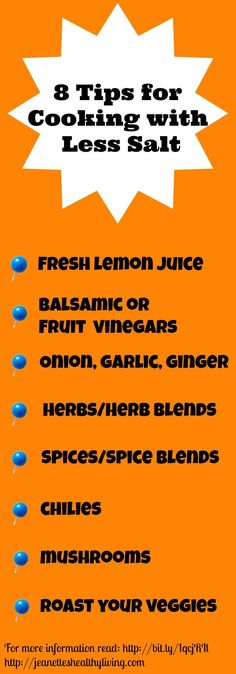 8 Easy Ways To Add Flavor With Less Salt ~ @Jeanette | Jeanette's Healthy Living