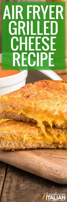 Air fryer grilled cheese is so simple to make, you'll never want to use a pan again! Enjoy one for a quick and easy meal that's mess-free too. Cooking Time, Cooking Recipes, Types Of Sandwiches, Grilled Cheese Recipes, The Slow Roasted Italian, Sweet Potato Chips, Best Cheese, Easy Salads, Air Fryer Recipes