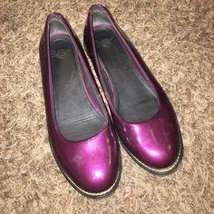 31200a0fb9 Dr. Martens Shoes - Dr martens purple patent leather flats US5.5 UK3