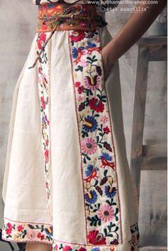 batik amarillis's transylvanian folkloric skirt