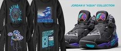 #Aqua8 Collection - #Jordan8 #Retro8 #Aqua8s #Jordan8Aquas #SneakerTees #JordanShirts #MensFashion