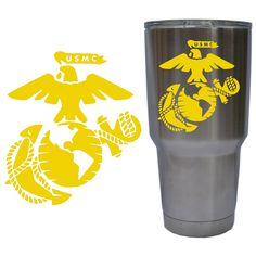 United States Marine Corps (USMC) Eagle, Globe & Anchor (EGA) Decal for YETI 30 oz Rambler Tumbler Cup (DECAL ONLY) Glossy Permanent Vinyl.  Purchase this product along with all of our other spectacular decals through one of the following links:   https://www.etsy.com/shop/MiaBellaDesignsWI  http://www.amazon.com/s?marketplaceID=ATVPDKIKX0DER&me=A2MSEOIVL689S1&merchant=A2MSEOIVL689S1&redirect=true