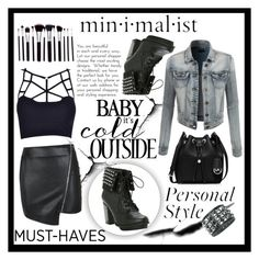 """""""Black is back"""" by ina-kis ❤ liked on Polyvore featuring Parisian, LE3NO and MICHAEL Michael Kors"""