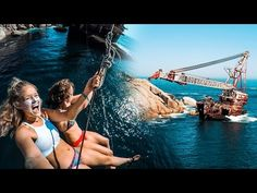 Group of Capetonians build a rope swing on a shipwreck...   theKLIQUE