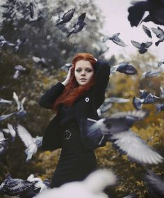 birds and RED HAIR!