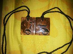 Vespa necklace .. Pendant..  #coconutshell #coconutshellnecklace #necklace #vespa #vespanecklace #handmade #handicraft #handicrafed