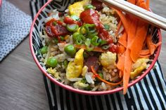Bacon Fried Rice – Shutterbean. Use brown rice and coconut aminos for clean recipe.