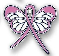 Breast Cancer Awareness Pink Ribbon Butterfly Pin New | eBay