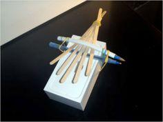 Fun music craft for kids, how to make a Kalmiba thumb piano