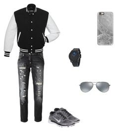 """""""black and gray clothes"""" by nermin-samardzic ❤ liked on Polyvore"""