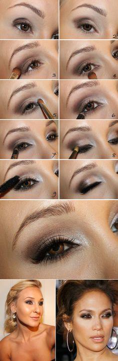 Aprende a maquillarte como Jennifer López y luce una mirada con mucho brillo