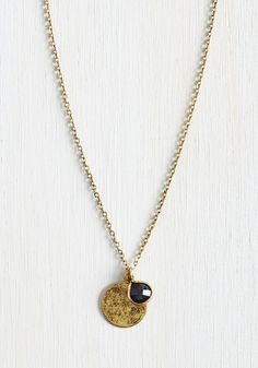 Preferred Pick Necklace. Simple and elegant, this ModCloth-exclusive necklace glows as the prime outfit-completing choice each morning. #gold #modcloth