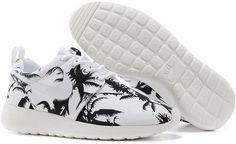 d8105e4119e5 2015 Nike Wmns Roshe Run Mens Shoes Discount Online Shop Couples Sneaker  Coconut Trees White Nike