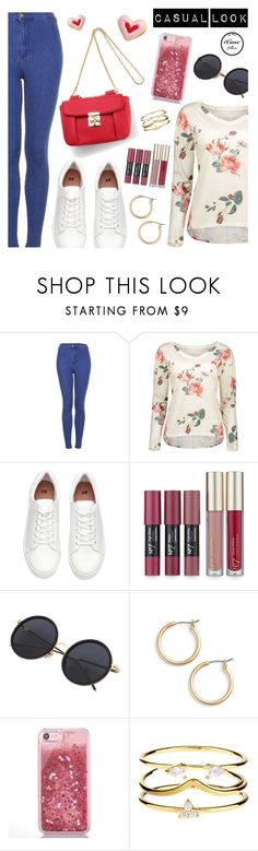 """""""Casual Look"""" by dressedbyrose ❤ liked on Polyvore featuring Topshop, H&M, Nordstrom and Accessorize"""