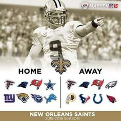 New Orleans Saints 2015 Opponents