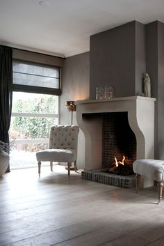 i 39 ve always wanted a massive stone fireplace like this while i 39 m okay with brick stones i. Black Bedroom Furniture Sets. Home Design Ideas