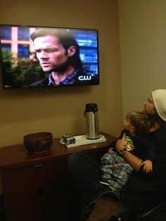 """Jared's tweet: """"Guess where we are..."""" and Gen's: """"@Nunney2584 @ jarpad he's not allowed to watch:). Only on special nights does he get to see bits and pieces :)."""" - Awww :) Hahaha the kid's gotta be just a wee bit confused..."""