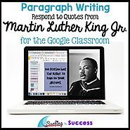 English Language Learners & Struggling Writers - Surfing to Success Opinion Writing Prompts, Teaching Writing, Teaching English, Writing Rubrics, Paragraph Writing, Persuasive Writing, Use Of Quotation Marks, Mlk Jr Day, Martin Luther King Quotes