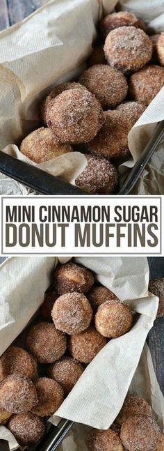 An easy recipe for warm, melt in your mouth Mini Cinnamon Sugar Donut Muffins that are super simple to make and taste just like a cinnamon sugar donut!